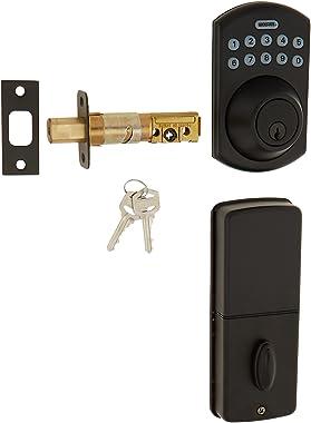 LockState LS-DB550-RB Electronic Keypad Deadbolt Rubbed Bronze Boulder Style