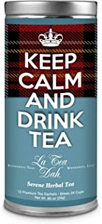 La Tea Dah Keep Calm Teas - Serene Herbal Tea - Chamomile, Lavender, Lemongrass & Spearmint Herbal Tea: Hot or Iced Tea: T...