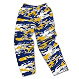 Zubaz NFL San Diego Chargers Men's Camo Print Team Logo Casual Active Pants, Small, Navy/Gold/Gray