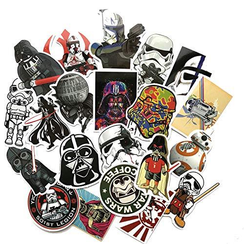 XIAMU Star Wars Impermeable Strcker Maleta teléfono Caso Coche monopatín Pegatinas Decorativas 50 Piezas