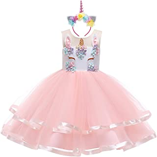 ab7862359e2d2 IBTOM CASTLE Baby Girls Flower Mythical Costume Cosplay Princess Dress up  Birthday Pageant Party Dance Outfits