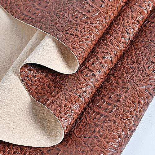 Material de la Tela de tapicería de Tela de Cuero de Vinilo, Cuero sintético de Tela de tapicería, por Metro x 138 cm Ancho, Vendido por Metro (Color : Brown, Size : 1.38X7m(4.53X22.97ft))