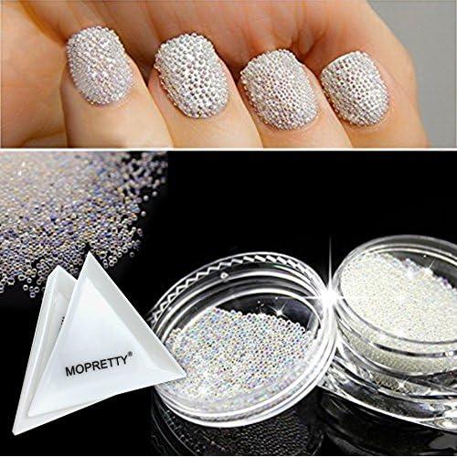 MOPRETTY Nail Art Micro Rhinestone AB Crystal Glass Mini Beads Gardient Dazzling Caviar Beads 3D Nail