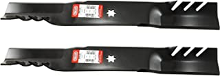 Set of 2, Longer Life Gator Fusion G5 3-In-1 Mulching Blades to Replace MTD Blades 742-0616, 942-0616, 742-04126 942-04312 Used on some 42