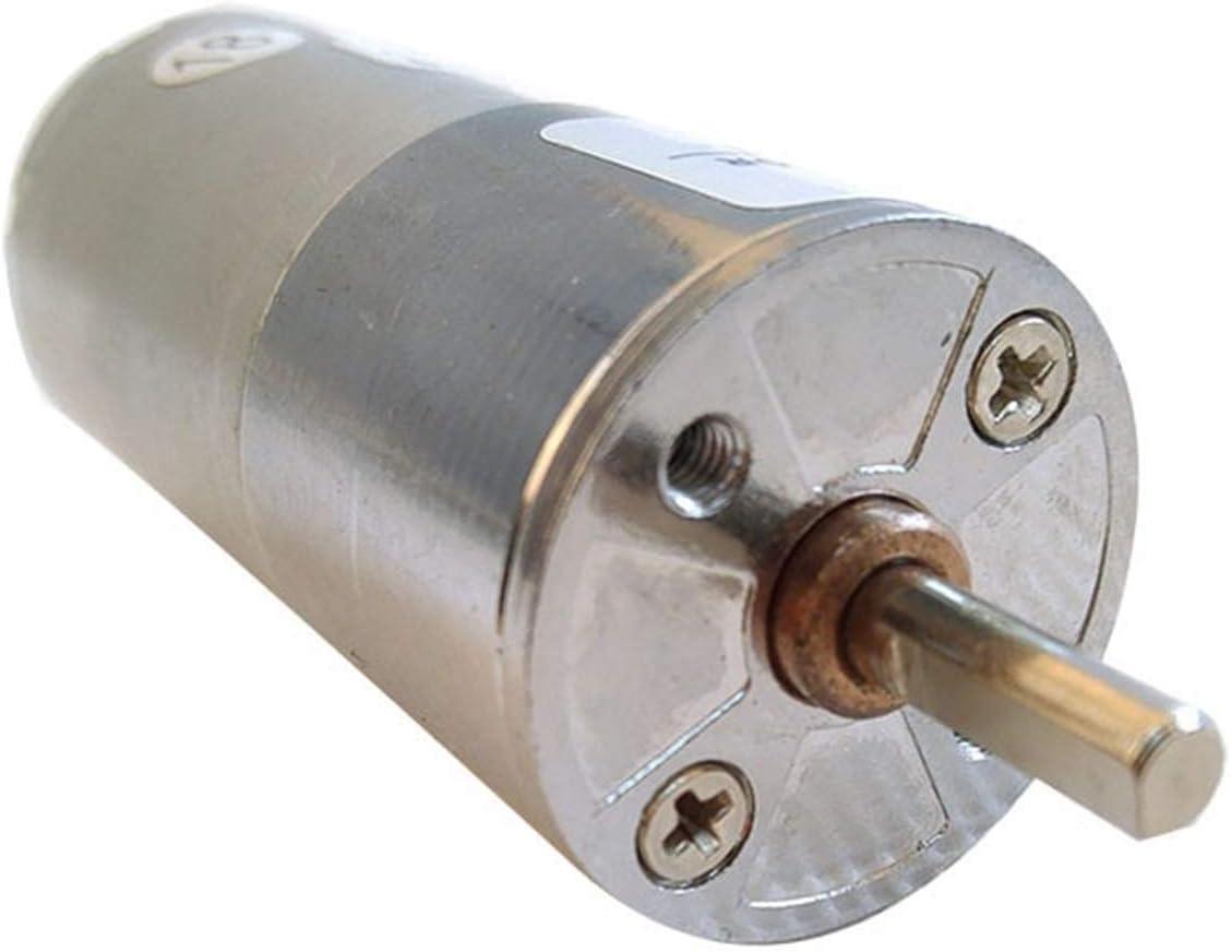 Motor eléctrico GA25RP DC Gear Motor 12V DC Motor Alto Torque Sector Central SALIDA 5RMP30RMP100RMP200RMP500RMP600RMP800RMP1000RMP Para generador de bricolaje (Speed(RPM) : 5rpm, Voltage(V) : 12V)