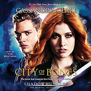City of Bones     The Mortal Instruments              Written by:                                                                                                                                 Cassandra Clare                               Narrated by:                                                                                                                                 Mae Whitman                      Length: 13 hrs and 44 mins     36 ratings     Overall 4.4