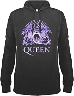 Amplified Clothing Queen 'Neon Sign' (Slate) Pull Over Hoodie