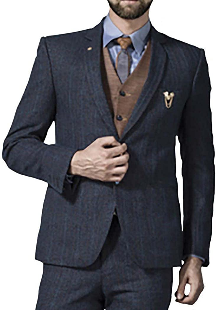 INMONARCH Mens Gray 6 Pc Tuxedo Weekly update High material Button Traditional TX10 Suit Two