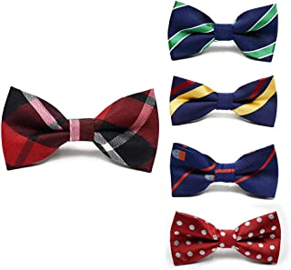 Fter Adjustable Boys Bow Ties 5 Pack Holiday Party Dress up Toddler Bowties