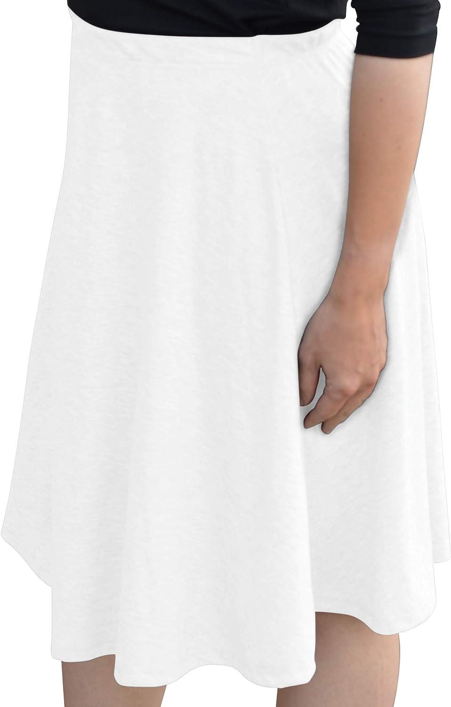 Kosher Casual Women's 100% Cotton Mid-Knee Length A-Line Skater Skirt