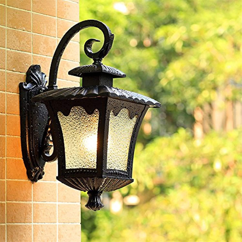 StiefelU LED Wandleuchte nach oben und unten Wandleuchten Stirnwand LAMPE antike Villa Terrasse Terrasse, Quartett kostenlos Laternen +12 WLED)