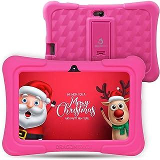 Dragon Touch Tablet para Niños con WiFi Bluetooth 7 Pulgadas 1024x600 Tablet Infantil de Android 8.1 Quad Core 1GB 16GB Doble Cámara Kid-Proof Funda Tablet Niños Educativo Y88X Plus Rosa