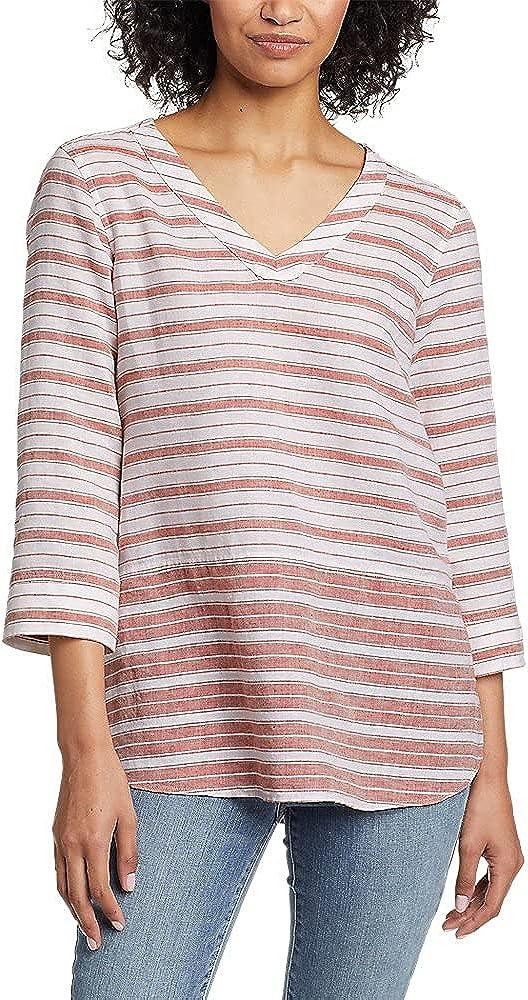 Eddie Bauer Women's Beach Light Linen 3/4-Sleeve Tunic