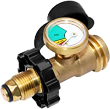 DOZYANT Universal Fit POL Propane Tank Adapter with Gauge Converts POL LP Tank Service Valve to QCC1 / Type 1, Old to New Connection Type, Propane Tank Gauge