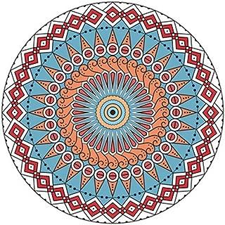 Dergo ☀ Mat,European Mandala Flower Series Round Carpets for Room Computer Chair Area Rug (A)