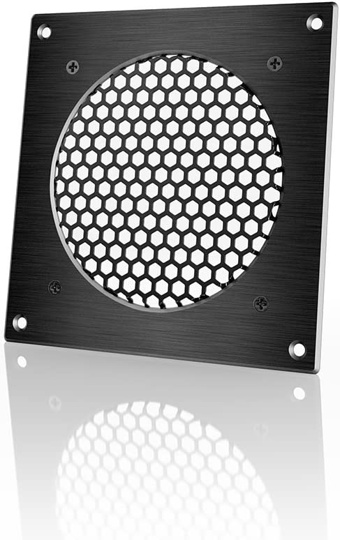 AC Infinity Ventilation Grille, for PC Computer AV Electronic Cabinets, Also mounts one 120mm Fan