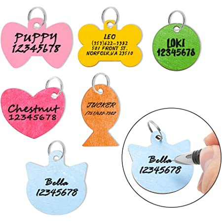 - Large 1 x 1 12 Custom Pet Id Tag Pet Name Personalized Hand-Stamped Dog Name Tag Funny Elegant Font