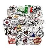 LLLucky 60 Unids Viajes Graffiti Sellos Pegatinas de Papel Famoso Punto de Referencia Scrapbook Sticker Arquitectura Mundial Maleta Pegatinas