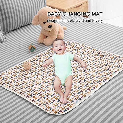 Colchoneta cambiante, colchón cambiador cómodo para niños sin olor de algodón para cochecito de bebé para cuna(Coffee puppy)
