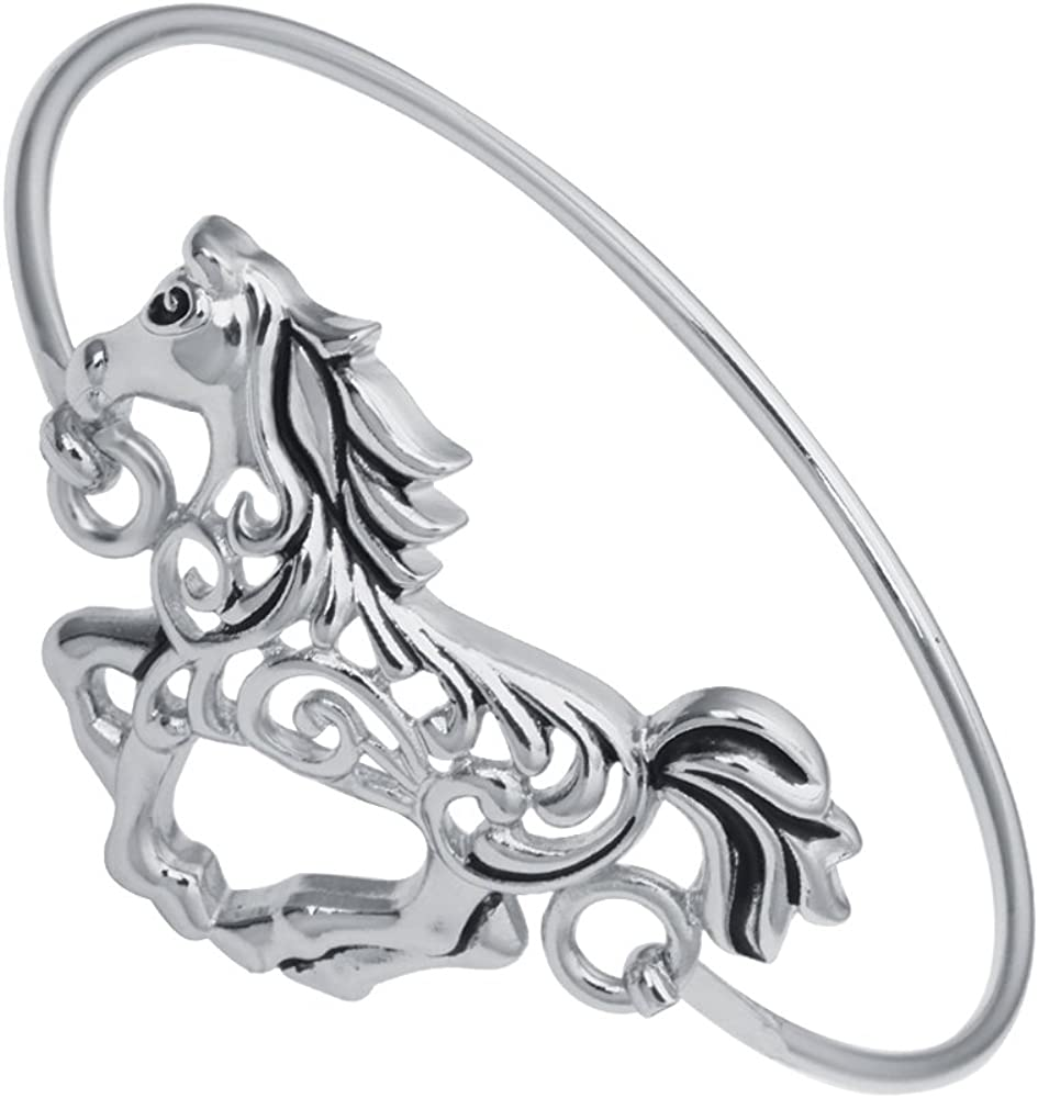 TUSHUO Hollow Running Horse Bangle Gift for Lover Riding Animal Finally popular Dallas Mall brand