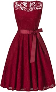 , Comfortable Dress Woman Summer Halter Polka Dot Dress Cocktail Rockabilly Bandage Swing Dresses