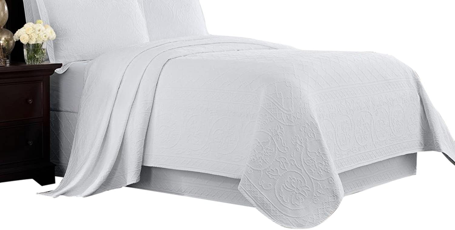 Williamsburg White Twin Richmond Coverlet,
