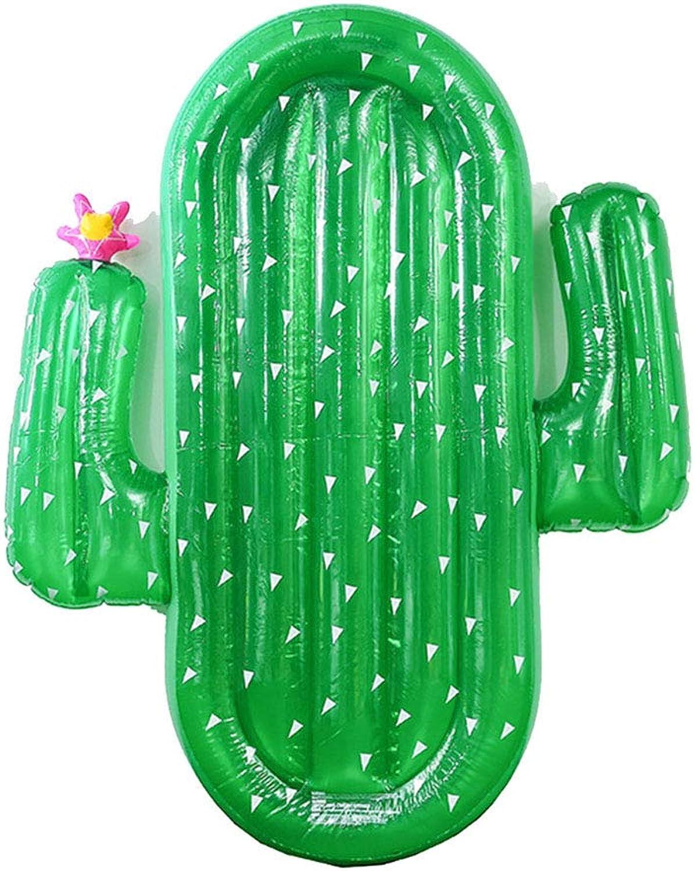 CBWZDJZDS Wasserspielzeug green PVC Kaktus Wasserbett Erwachsene Wassersport Aufblasbare Schwimmende Reihe Matte green 180X145 cm