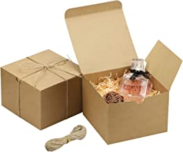 SERJOOC 20pcs Brown Gift Boxes 5x5x3.5 Inches Kraft Paper Gift Boxes with Lids Gift Wrap Box, Crafting Cupcake Boxes, Easy...