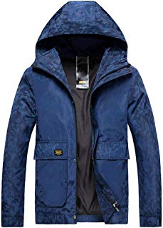 Rmeioel Men's Autumn Winter Casual Fashion Camouflage Hoodie Zipper Outdoor Sport Coat Outwear