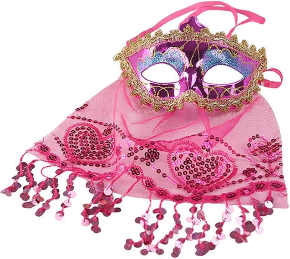 All items in the store New color NUOBESTY Women Belly Dance Face Veil Lace Feather E Party Tribal