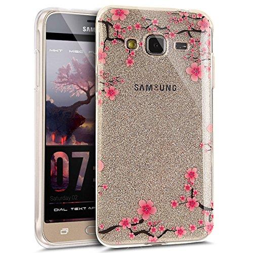 Ikasus - Carcasa protectora, silicona blanda (poliuretano termoplástico), transparente, ultrafina, para Samsung Galaxy J3 2016, blanco, Galaxy J3 case