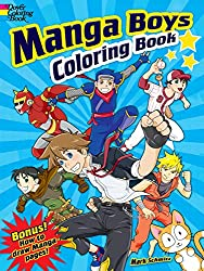 manga boys coloring book by dover