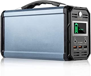 300W Generador Solar Portátil, estación de energía portátil de 60000 mAh Generador portátil para Acampar, batería Salida de CA de 220 V/Puertos USB de CC 12 V/CC para Viajes de Campamento CPAP