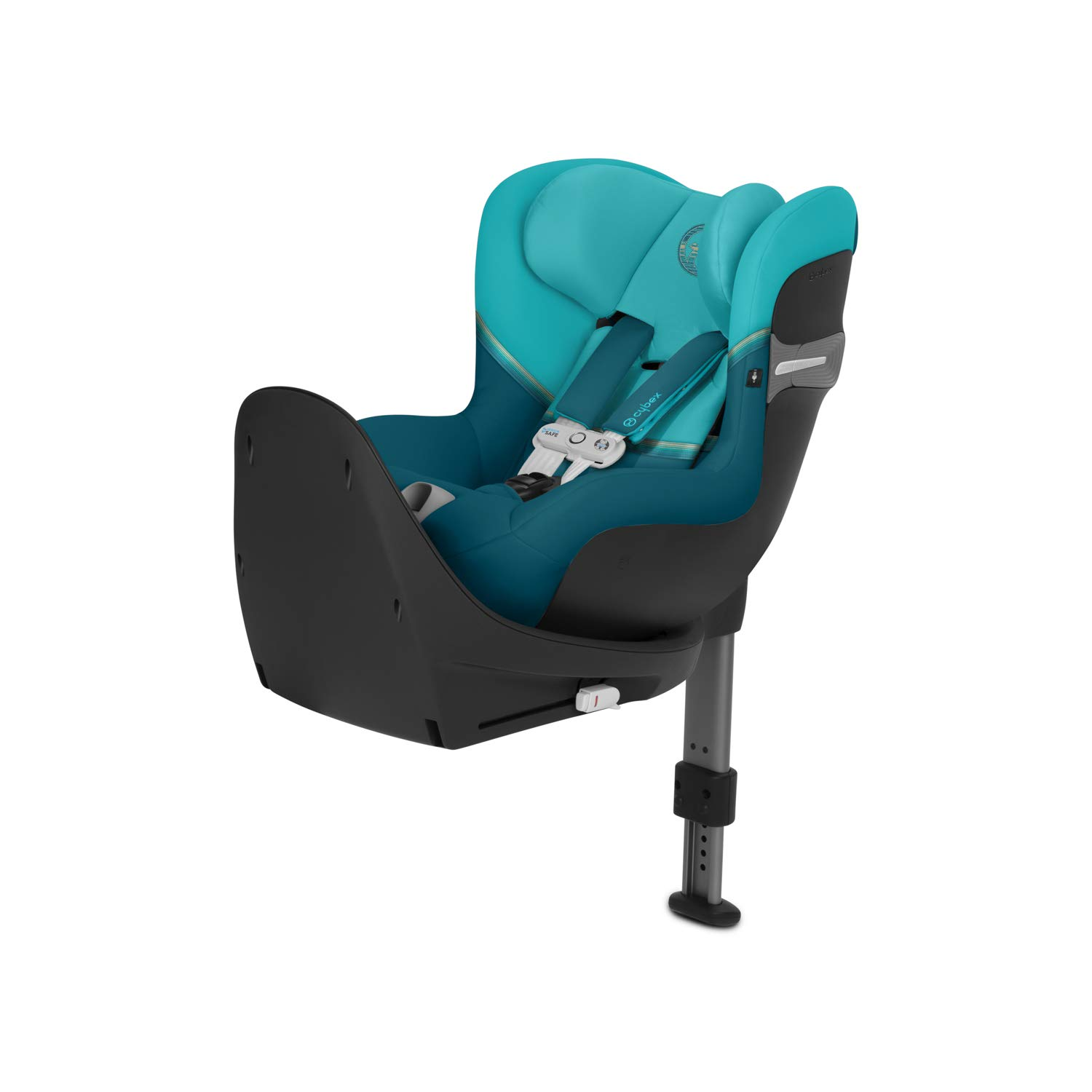 CYBEX Gold Sirona S i-Size Child´s Car Seat incl. SensorSafe Smart chest clip, 360° Rotation for Easy Entry and Exit Position, Group 0+/1 (Max 18 kg) From Birth Up to Approx. 4 Years, River Blue