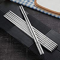 CENPEN 箸クリエイティブパーソナリティ家庭用すべり止め箸ファッションステンレス箸4ペア 箸