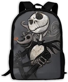 Custom Jack and Zero Casual Backpack School Bag Travel Daypack Gift