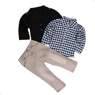 JERFER Bekleidungssets Kinder Baby Junge Gentry Kleidung Set Formaler Party Taufe Hochzeit Hübsche T-shirt + Mantel + Hosen Hosen Kleidung Outfits 2-8 Jahre