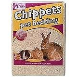 PETTEX pequeño Animal Ropa de Cama chippets, Pre comprimido 35L (Aprox. 2,5kg)