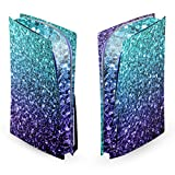 Head Case Designs Officially Licensed PLdesign Aqua Blue Art Mix Vinyl Faceplate Sticker Gaming Skin Case Cover Compatible With Sony PlayStation 5 PS5 Disc Edition Console