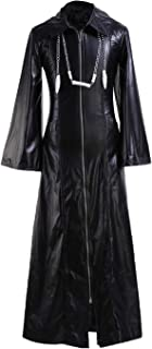 Cosplaybar Mens Organization XIII Kingdom Hearts Roxas Leather Coat Outfit Cosplay Costume