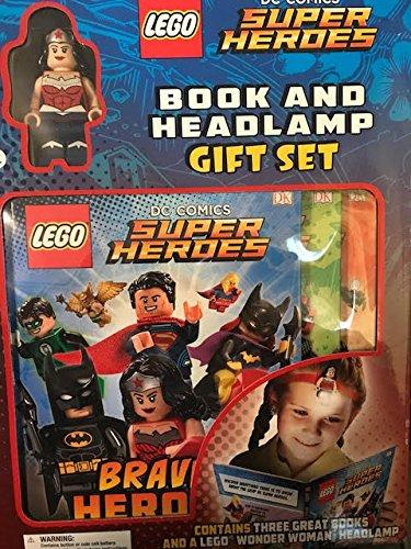 DC Comics Superheroes Wonder Woman Mini Figure , Book and Headlamp Gift Set