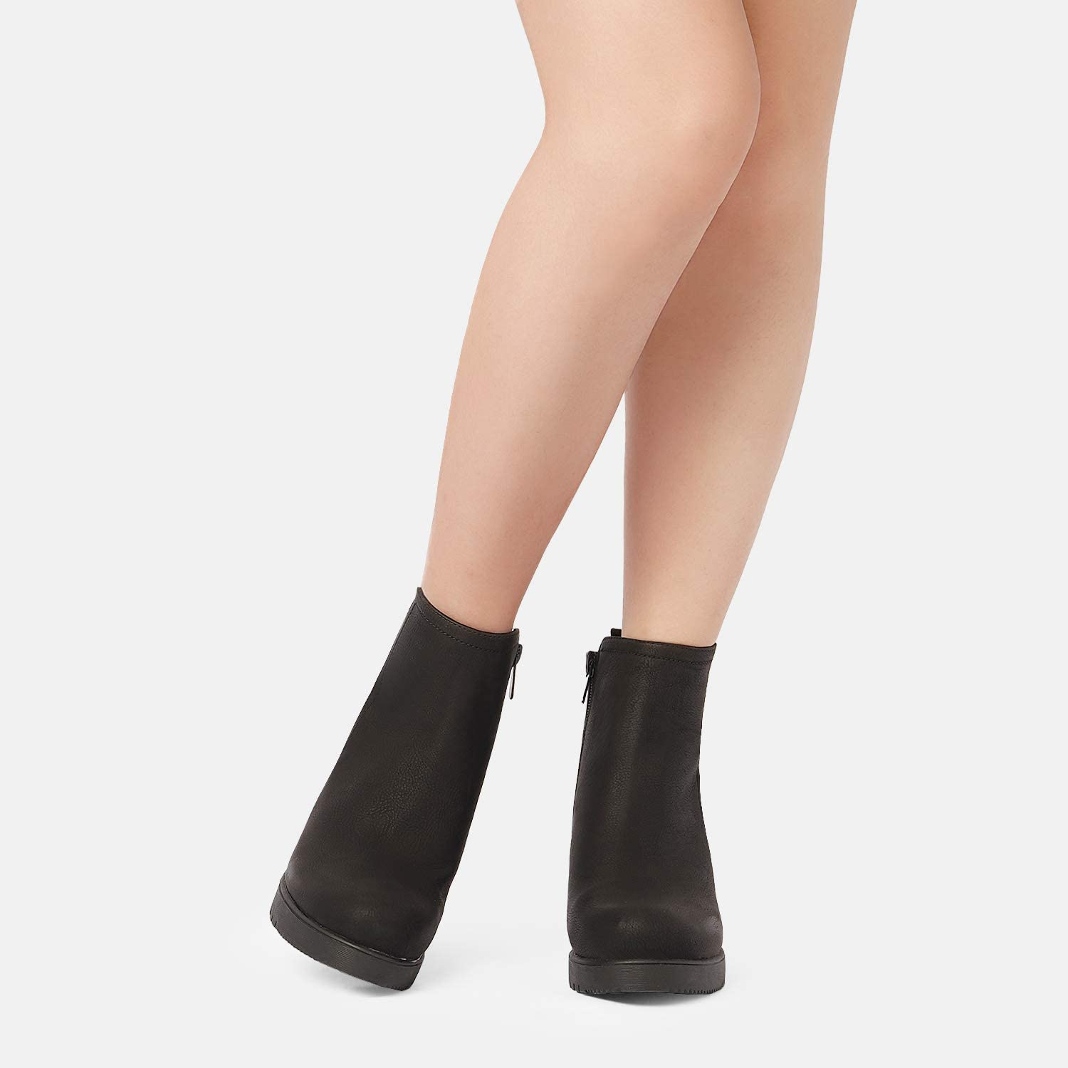 DREAM PAIRS Women's Low Heel Chunky Ankle Boots Winter Shoes