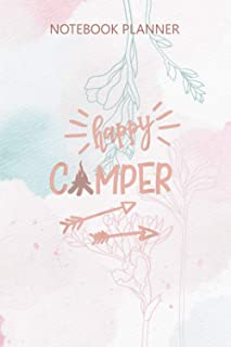 Notebook Planner Happy Camper Family Camping Hiking Camp Life: Small Business, Money, 6x9 inch, Work List, Meal, Daily, 11...