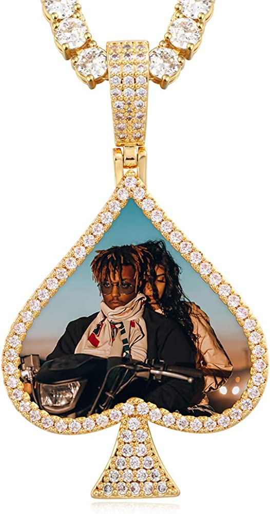 YIMERAIRE Hip Hop Memory Pendant P Custom Necklace Limited time San Jose Mall trial price Heart