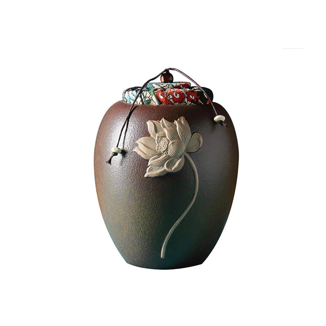 委任任命する前置詞SHENGSHIHUIZHONG GuyuexuanPet棺桶、骨壷、動物の棺桶、兼用、猫と犬の死のお土産、手作りのセラミック封印された缶 (Color : Brown)