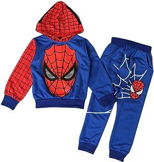 AEIL Garçons Décontractée Survêtement Hoodies Enfants 2 Pièce Outfit Spiderman Cosplay Ensemble À Manches Longues Sport Su...