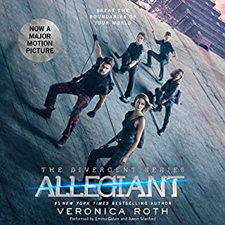 Allegiant     Divergent Trilogy, Book 3              Written by:                                                                                                                                 Veronica Roth                               Narrated by:                                                                                                                                 Emma Galvin,                                                                                        Aaron Stanford                      Length: 11 hrs and 51 mins     36 ratings     Overall 4.4