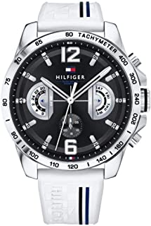 Tommy Hilfiger Men's Black Dial Rubber Band Watch - 1791475