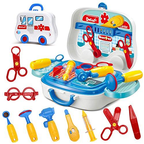 Ärzte-Set für Kinder–lustiges Rollenspiel für Jungen und Mädchen ab 3 Jahre