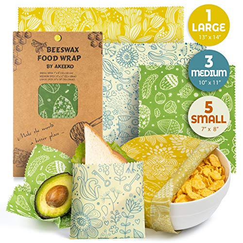 in budget affordable Various reusable beeswax packages, 9 packs – eco-friendly reusable food packages, biodegradable, zero …